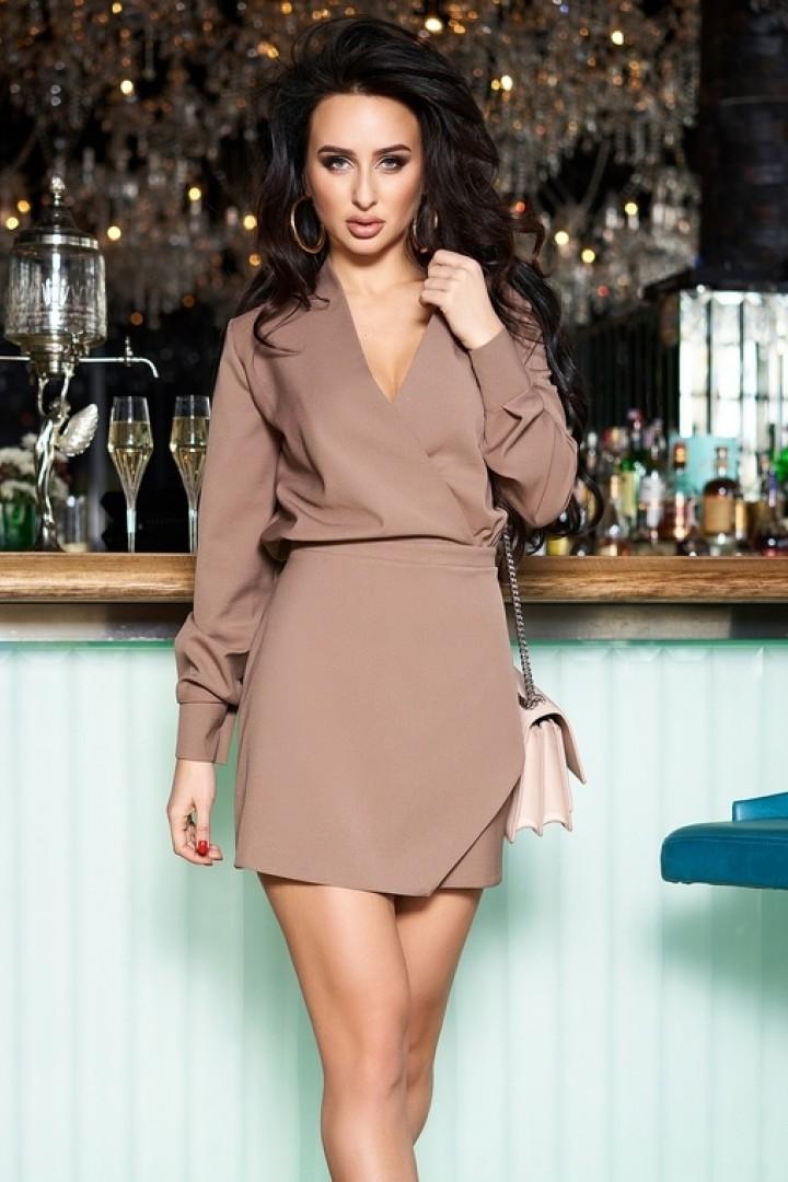 Красивое приталенное платье ENI-8743