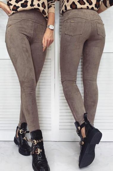 Замшевые брюки женские TD-191A270