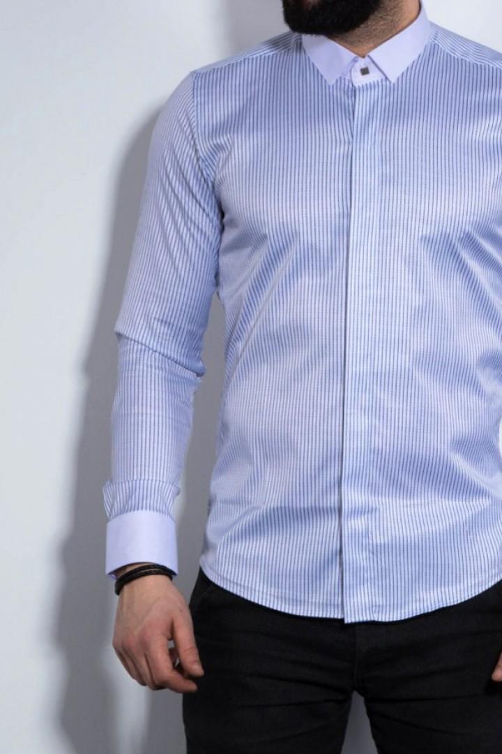 Мужская рубашка в полоску с длинным рукавом RT-0118307A400