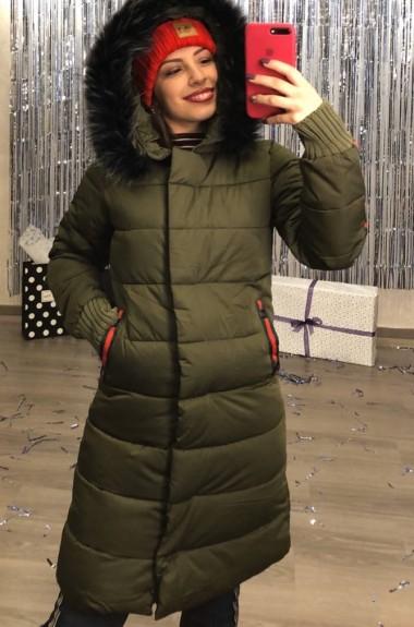Модное стеганное пальто AR-201219A26
