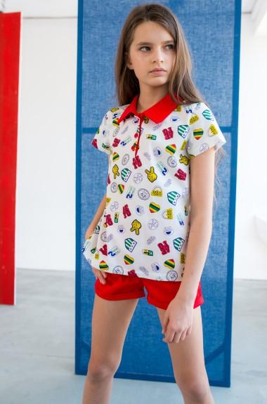Футболка и шорты для девочки DV-AR0003A315