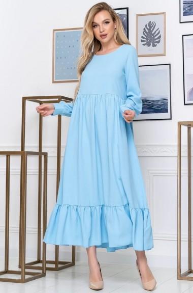 Свободное платье с воланом ALL-1568A15