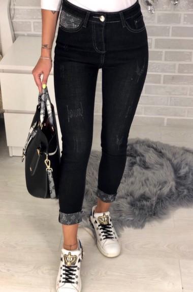 Женские джинсы с отворотами GN-605A540