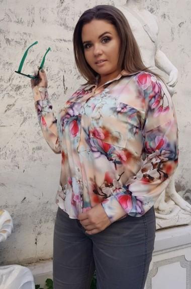 Рубашка с принтом женская YM-0236A11