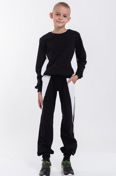 Черно-белый спортивный костюм AM-1175A13.2