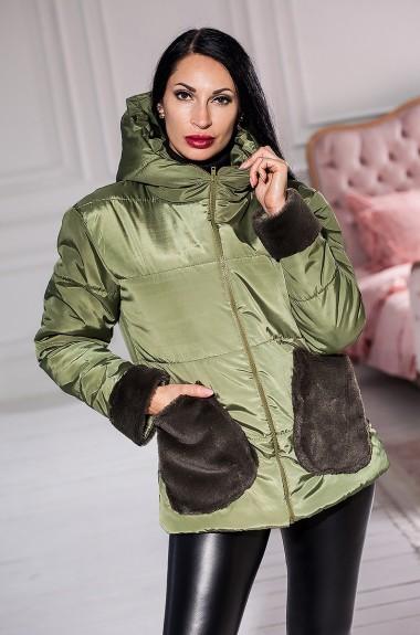 Куртка с меховыми карманами KV-S949A600