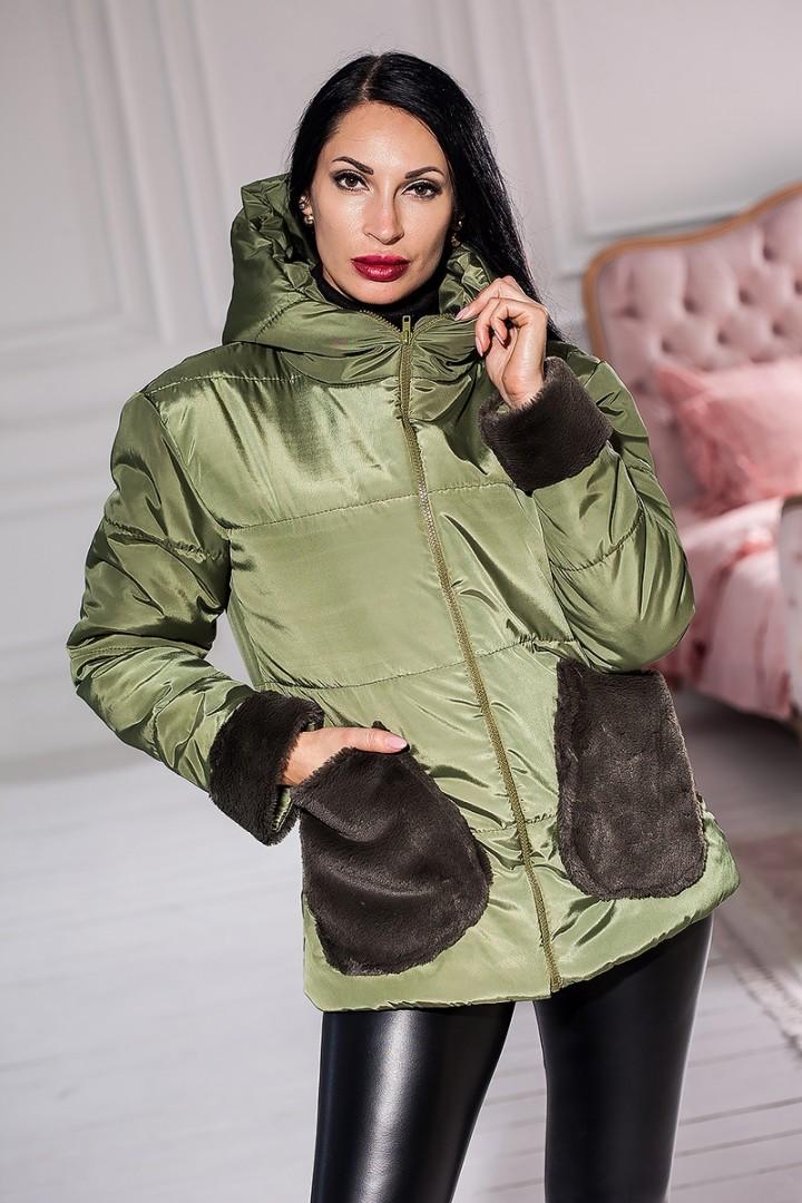 Куртка с меховыми карманами KV-S949A420