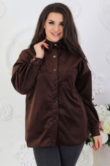 Вельветовая рубашка женская VL-527A16.7
