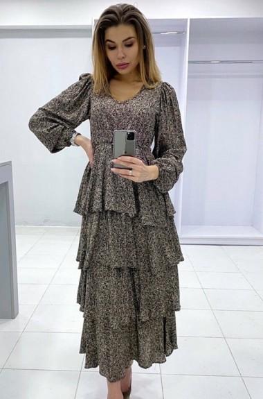 Платье с многослойной юбкой YYAH-3475A550