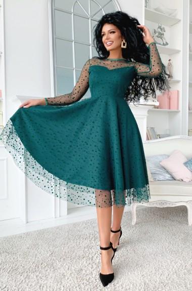Нарядное платье миди AV-1118