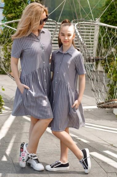 Летнее платье для мамы и дочки KL-450