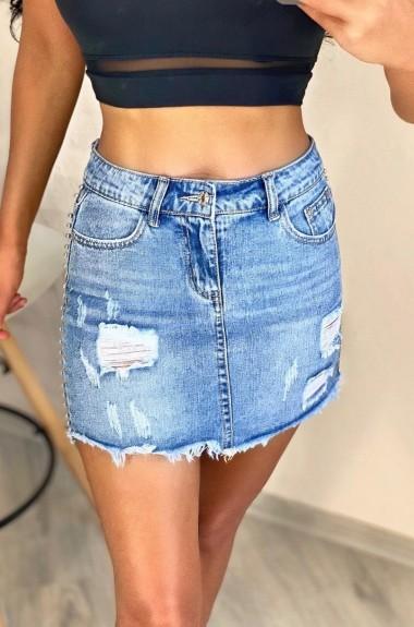 Короткая джинсовая юбка NAV-3733A300