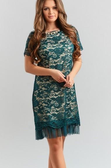 Короткое гипюровое платье AST-191316