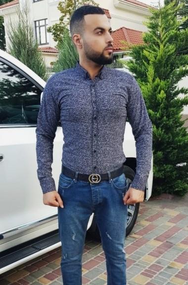 Красивая мужская рубашка V7V-M102A11