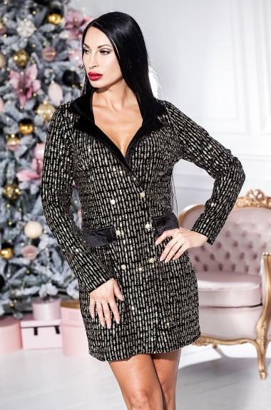 Платье пиджак из бархата KV-N947A400