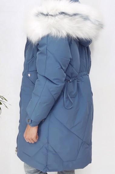 Зимняя куртка с белым мехом AR-1819A37