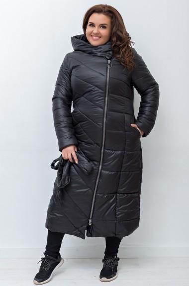 Стеганное длинное пальто IP-246A950