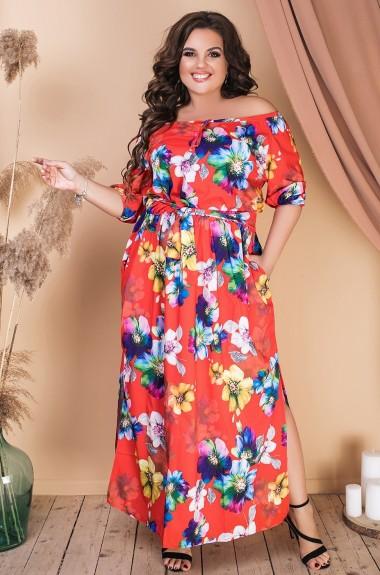 Принтованное платье VL-574A14