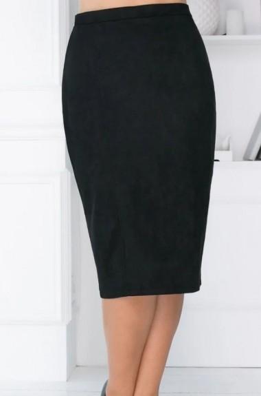 Черная замшевая юбка YM-0229A11