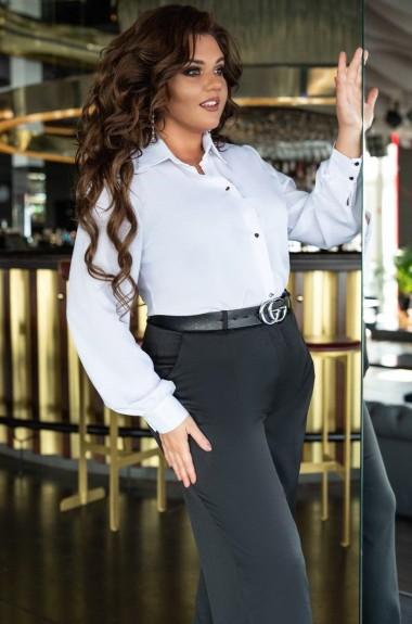Женская однотонная рубашка EY-0147A14B16