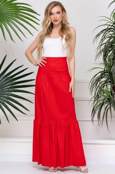 Длинная юбка с воланом ALL-3081A14