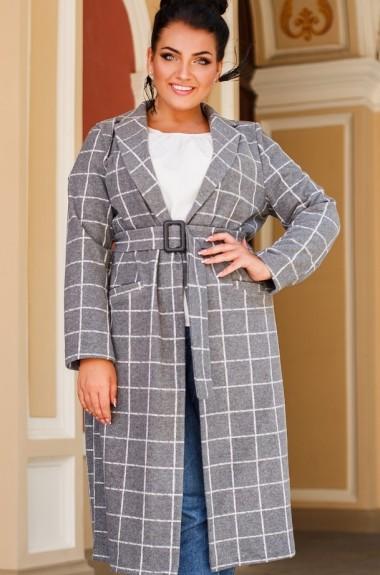 Модное пальто в клетку DG-c41322A650