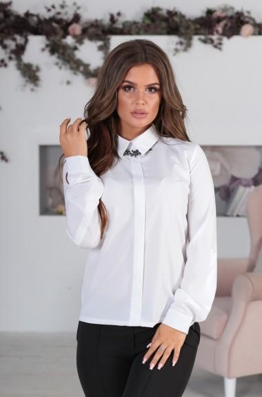 Блузка с застежкой на планке OLY-133