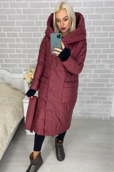 Модное синтепоновое пальто IO-272.0061A650B700