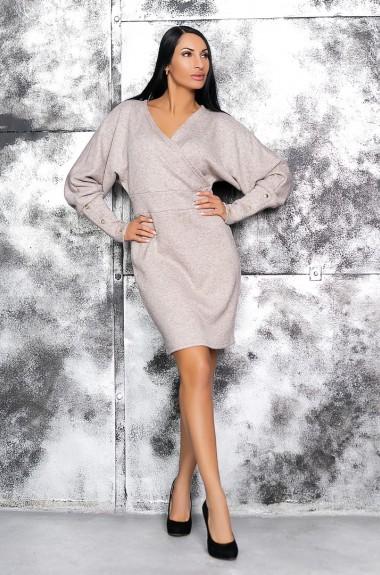 Платье однотонное с длинным рукавом KV-N945A450