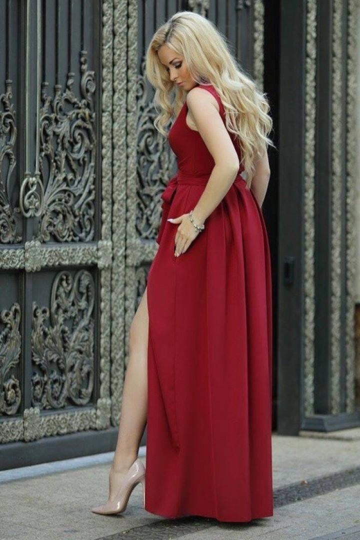 Длинное платье в пол KL-282A450