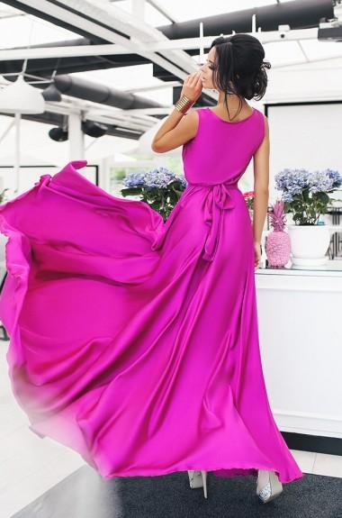 Длинное шелковое платье MV-421