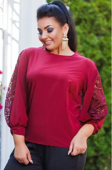 Блузка с гипюровыми вставками DG-ak0460A250