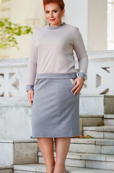Трикотажный костюм юбка и кофта DG-ak0454A350