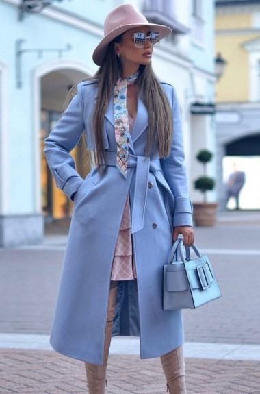 Пальто женское демисезонное кашемировое EKS-866A25