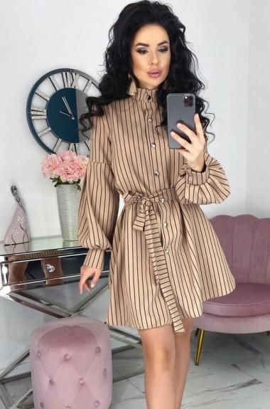 Модное платье в полоску EFR-518A14