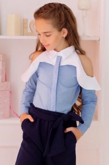 Детская рубашка для девочки KL-419