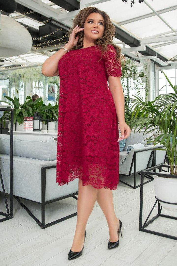 Платье женское из гипюра IT-1073