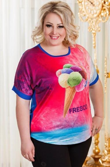 Яркая футболка женская DG-p2915A100