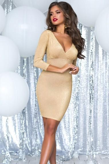 Платье из трикотажа с люрексом PRAT-2069