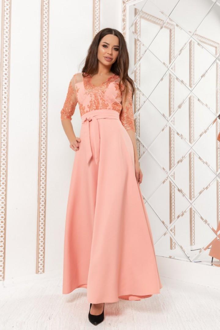 Длинное вечернее платье в пол KV-608