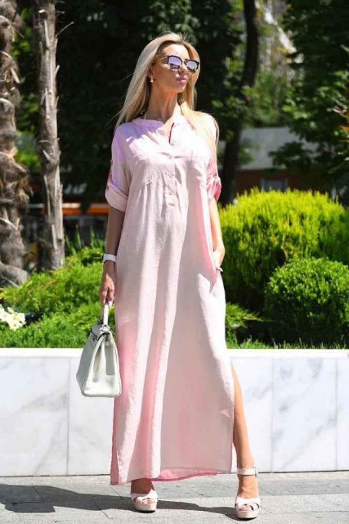 Длинное платье свободного кроя VM-9080A13.5B15