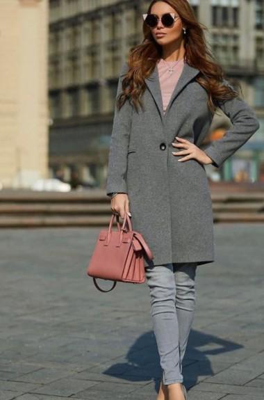 Классическое длинное женское пальто VMS-0092