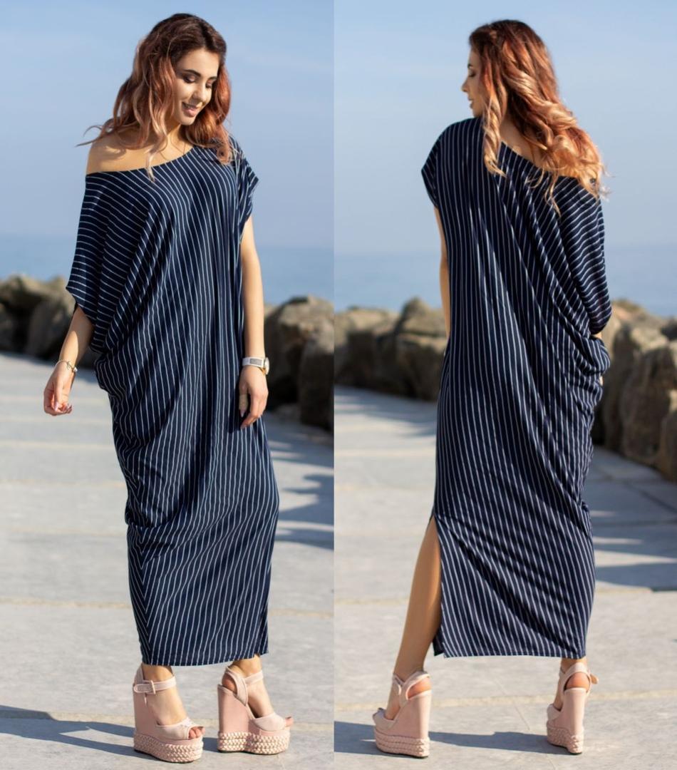длинное прямое платье