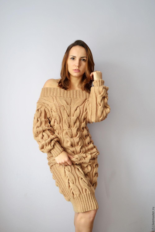 5ea89813f5f Вязаные платья купить из крупной и тонкой вязки