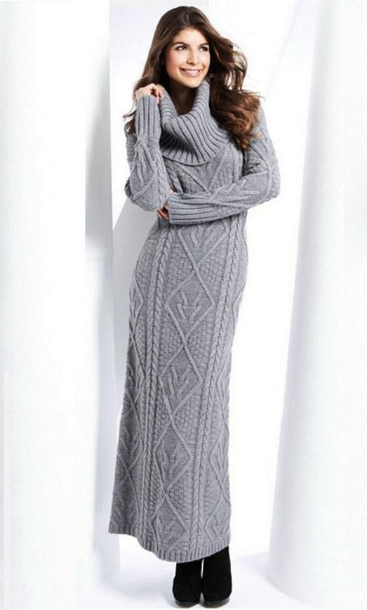 вязаные платья купить из крупной и тонкой вязки шерсти кашемира и