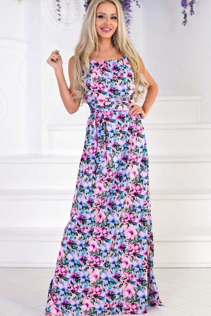 красивое длинное летнее платье