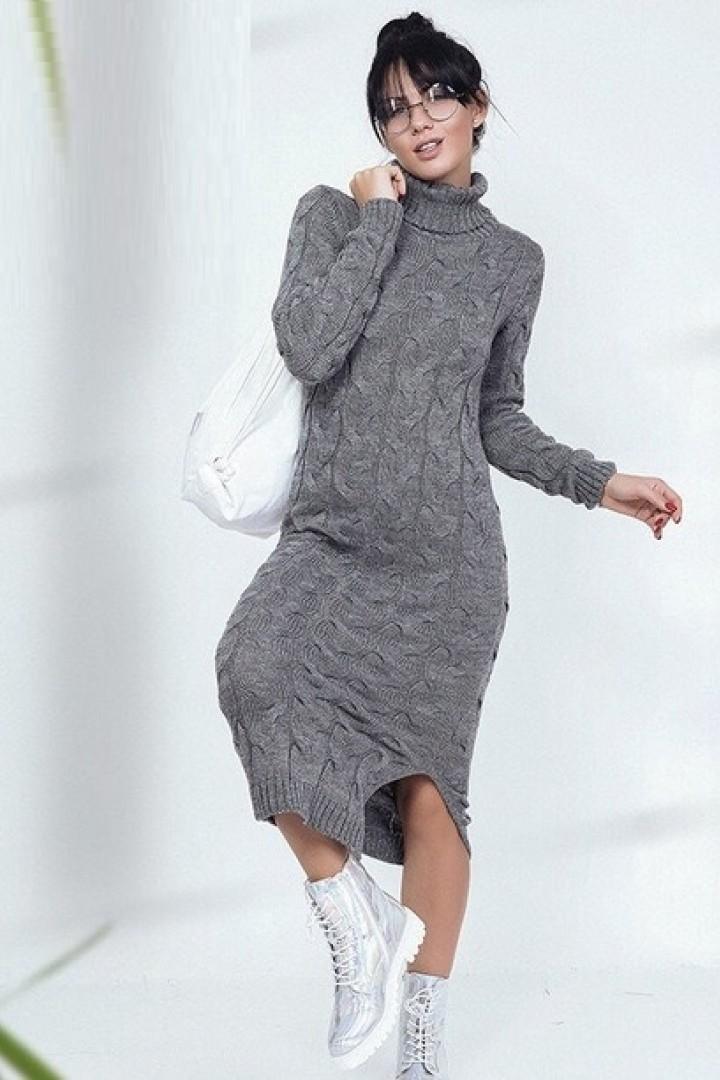 длинное зимнее платье