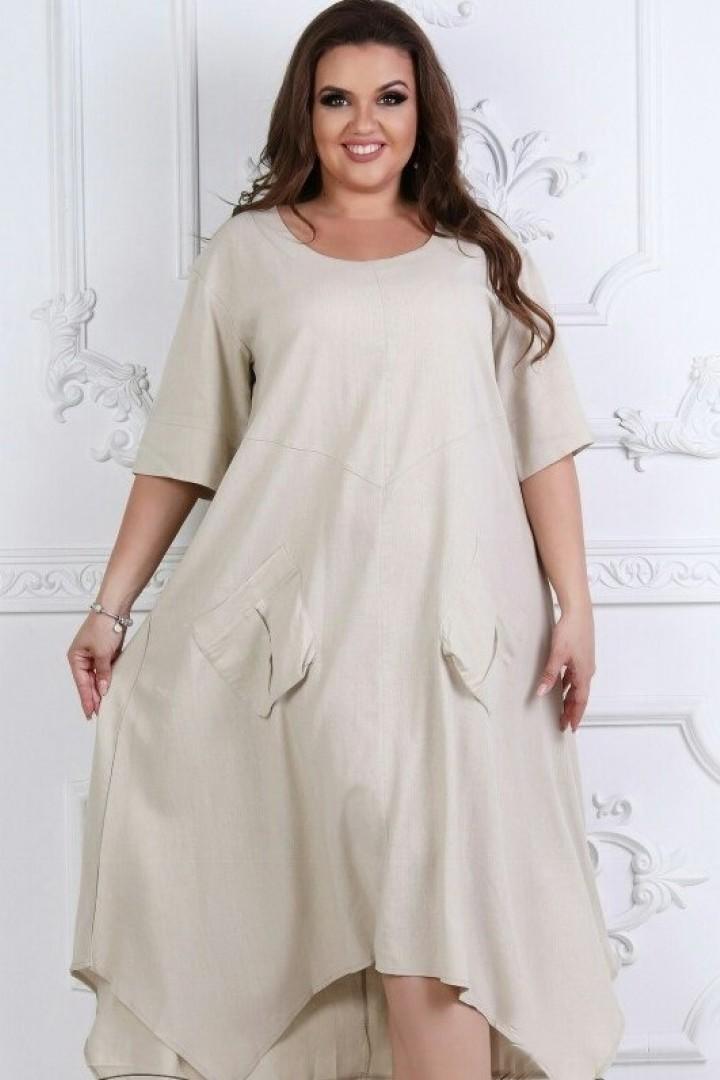 модное платье большого размера на осень