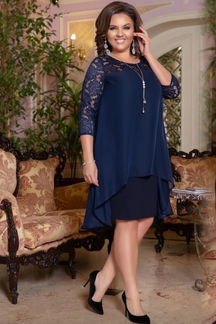 купить зимнее платье большого размера