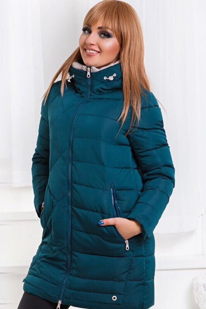 купить женскую зимнюю куртку большого размера